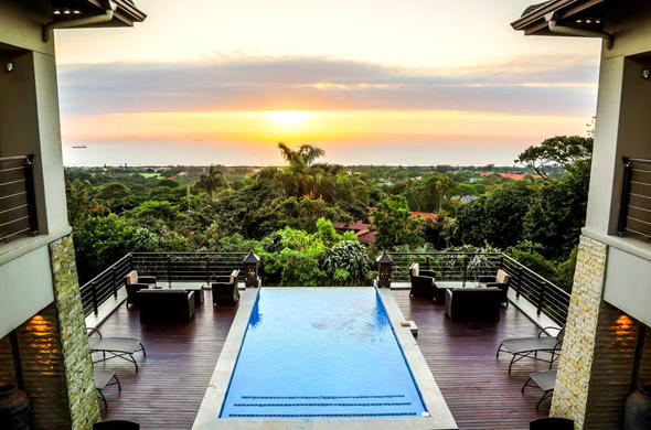 Enjoy the sunset over the Indian Ocean from Endless Horizons Boutique Hotel.
