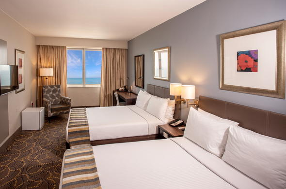 Superior room with breathtaking sea-views at Garden Court South Beach Hotel.