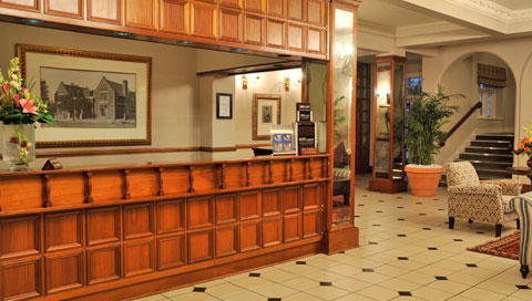 Imperial Hotel reception area.