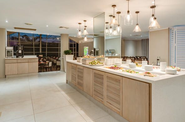 Delicious Buffet Served At Protea Hotel Karridene Beach.