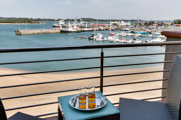 Enjoy a drink while indulging in the views of Richards Bay.