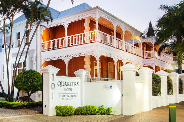 Exterior view of Quarters Hotel Florida Road in Durban.