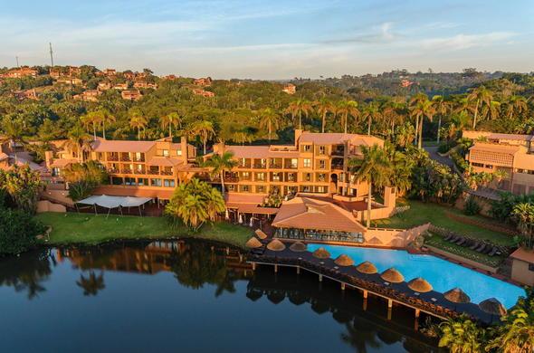 Aerial View Of San Lameer Resort Hotel Spa In Kwazulu Natal