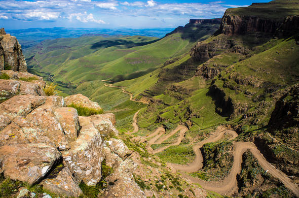 View from top of Sani Pass.